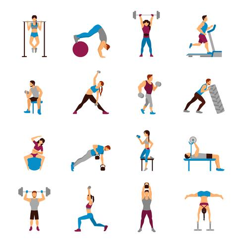 Strength Training Workout Set vector