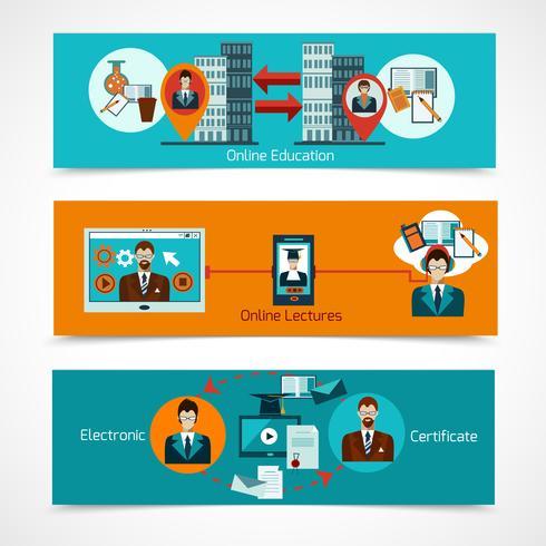 Online Education Banner Set