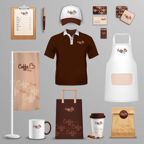 Jeu d'icônes restaurant café identité visuelle