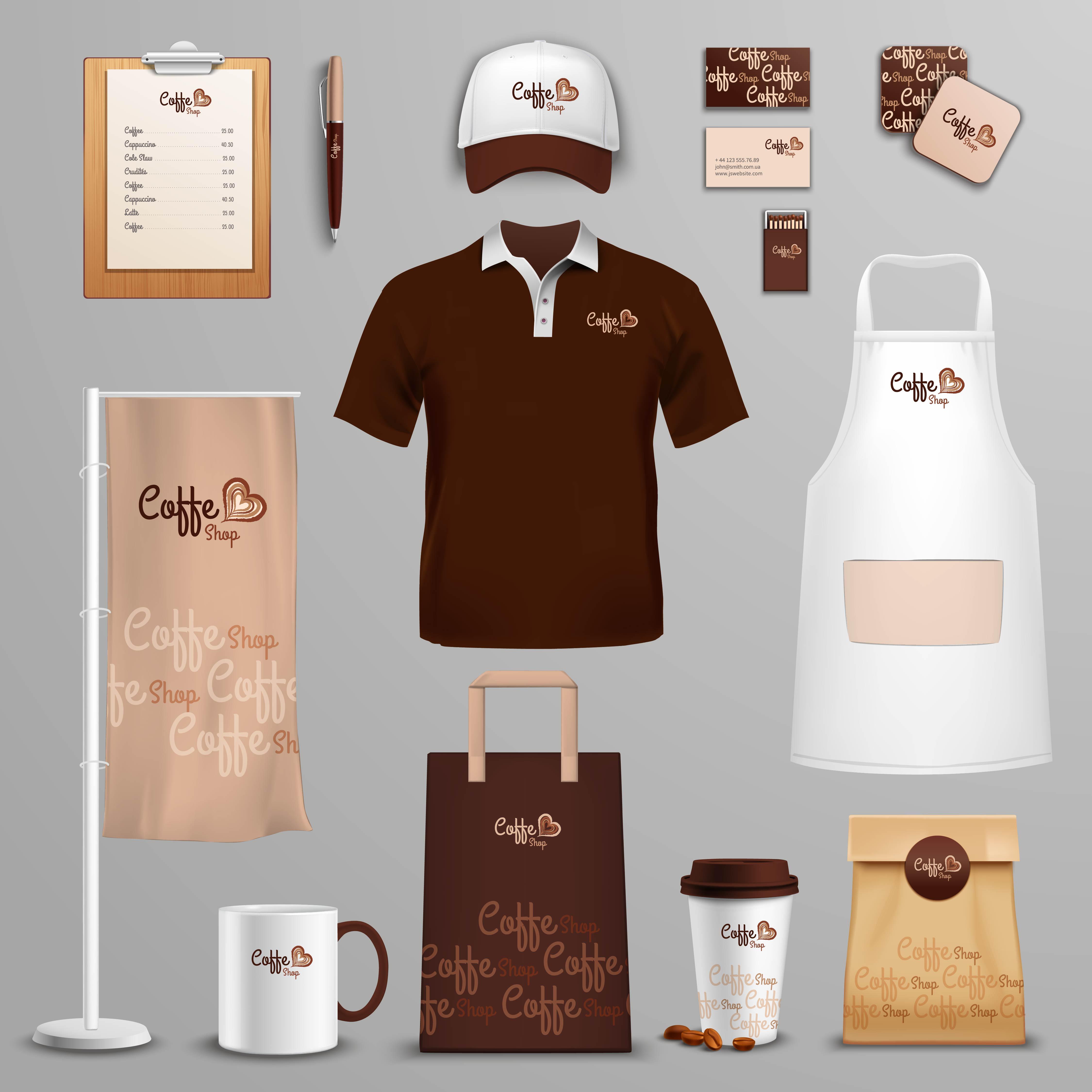 Restaurant Cafe Corporate Identity Icons Set 468689