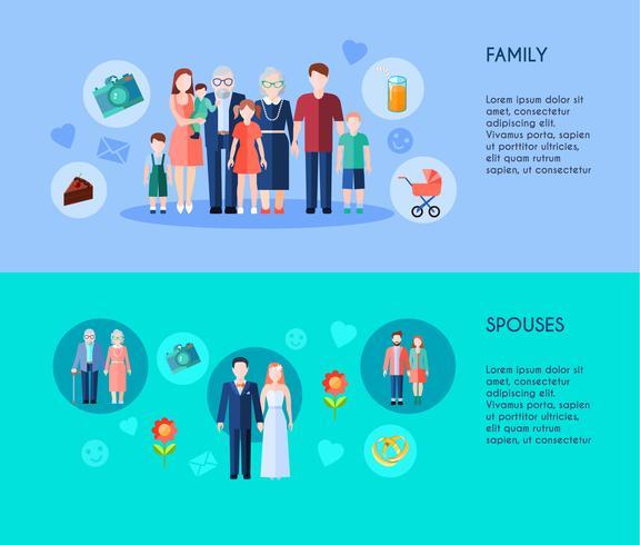 Familie und Ehepartner Banner