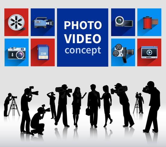 Concept photo et vidéo vecteur