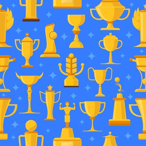 Preise und Cups nahtlose Illustration