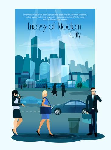 Moderner Stadtbild-Hintergrund