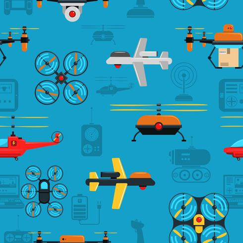 Drones Seamless Background