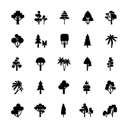 Set de arbol blanco y negro