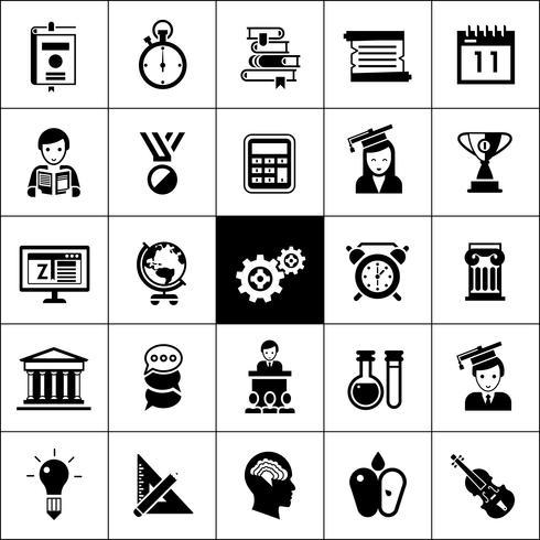Universitätssymbole schwarz