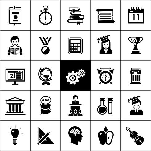 Iconos de la universidad negro