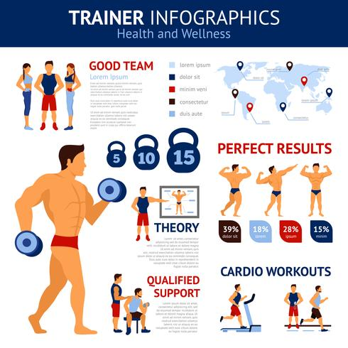 Trainer Infographics Set vector