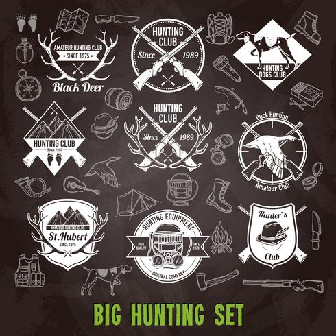 Hunting Chalkboard Set