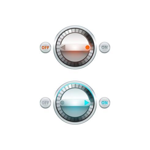 Conjunto de botones redondos