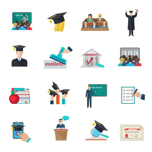 Set di icone di istruzione superiore