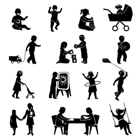 Kinderen zwarte set