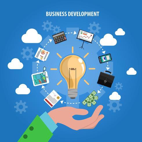 Concepto de desarrollo de negocios