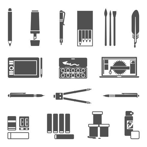 Tekengereedschappen Icon Set