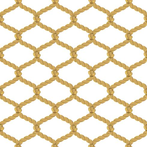 Rope Net Seamless Pattern vector