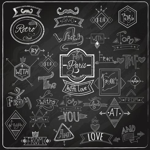 Catchwords schoolbord krijt ontwerp