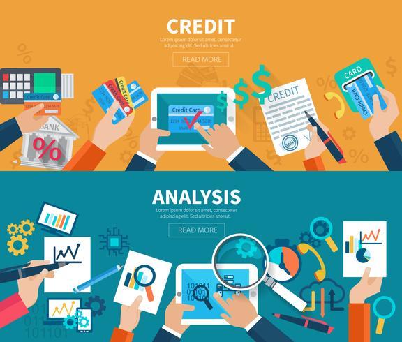 Conjunto de banner de análise de crédito