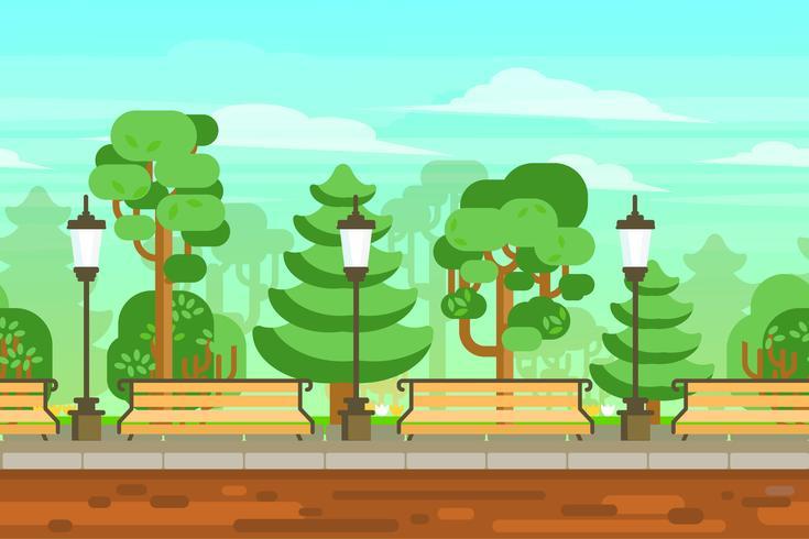 Cartaz da paisagem do jardim do verão