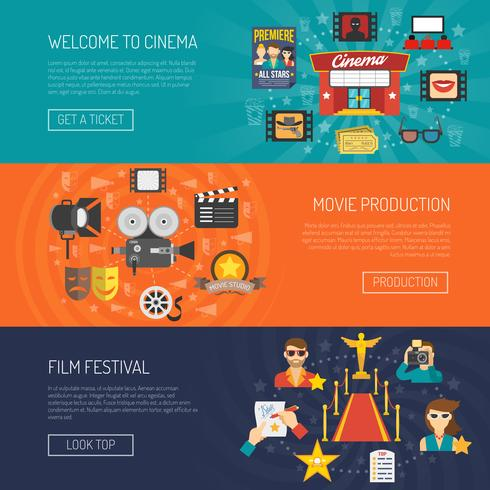 Movie Banner Horizontal vector