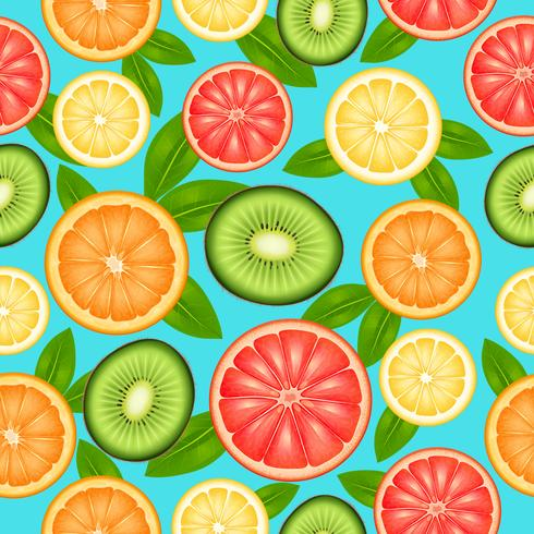Patrón sin costuras de fruta