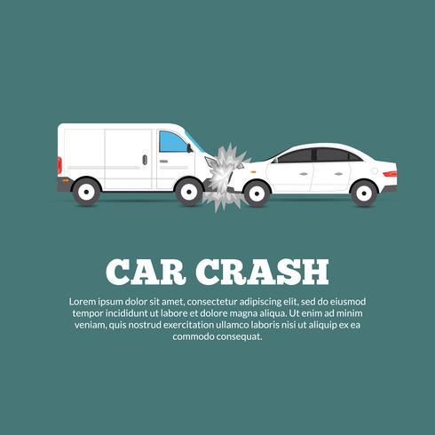 Affiche d'accident de voiture
