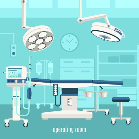 Poster di progettazione sala operatoria medica