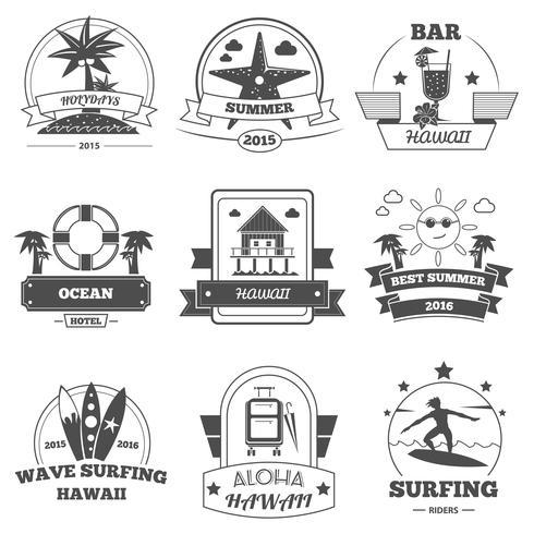 Beach Label Set vector