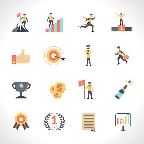 Set di icone di successo