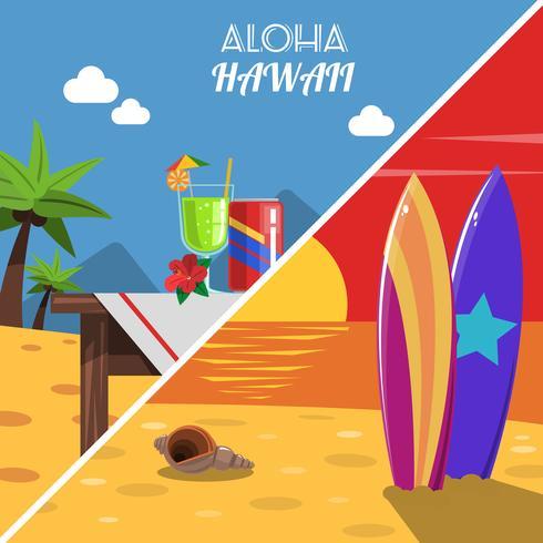 Conjunto de Banner de praia