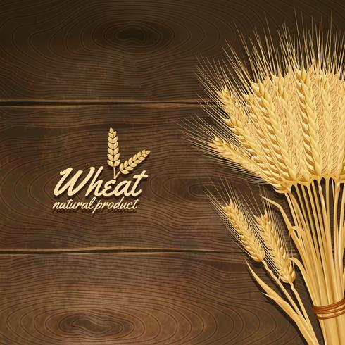 Weizen auf Holztisch vektor