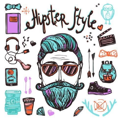 Conceito de desenho de Hipster Cartoon