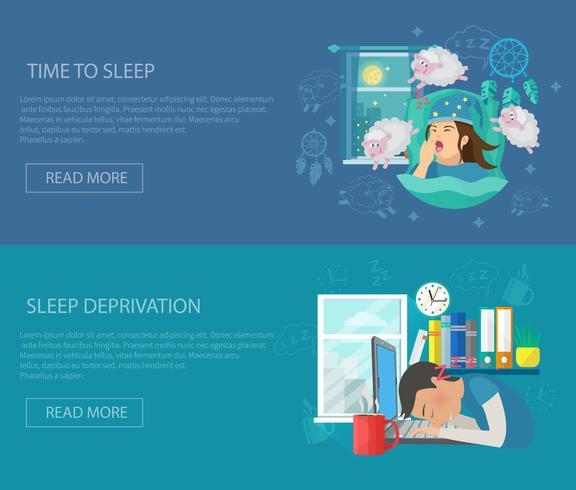 Bandera del tiempo de sueño vector
