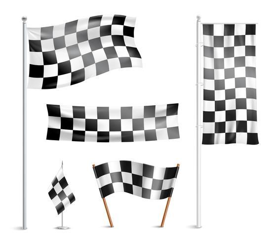 Coleção de pictogramas de bandeiras checkered