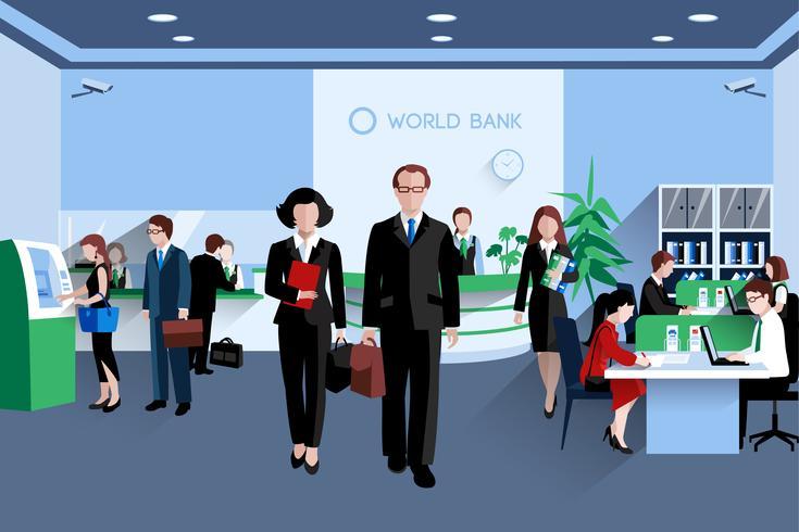 Mensen In Bank