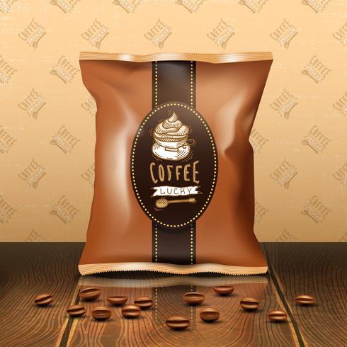 Kaffepackdesign vektor