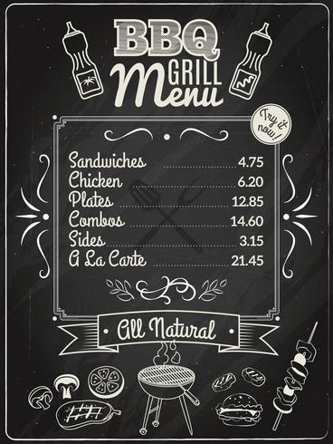 Grill Menu lavagna