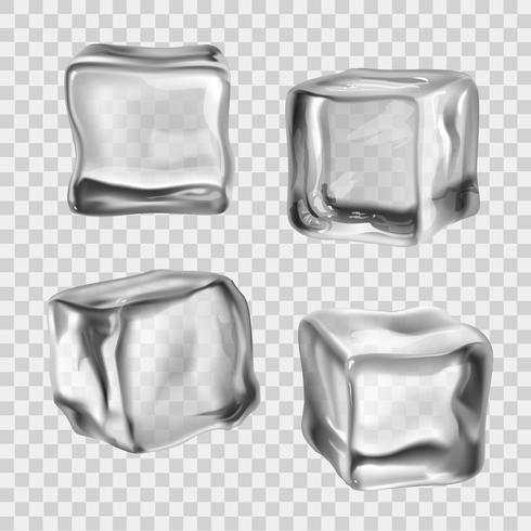 Cubitos de hielo transparente