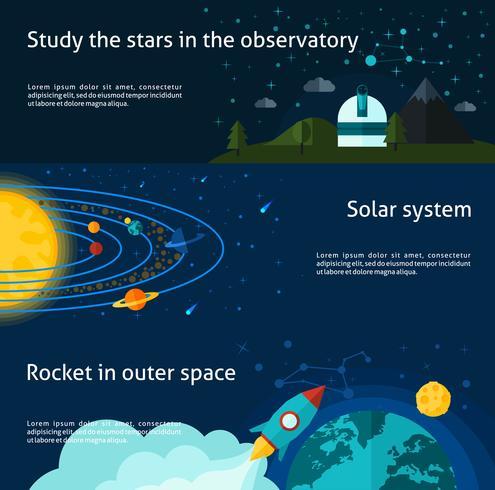 banner set voor ruimte en universum