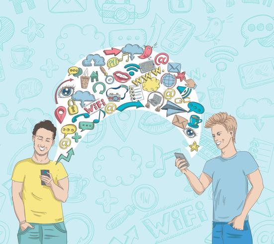 Actividad de red social vector