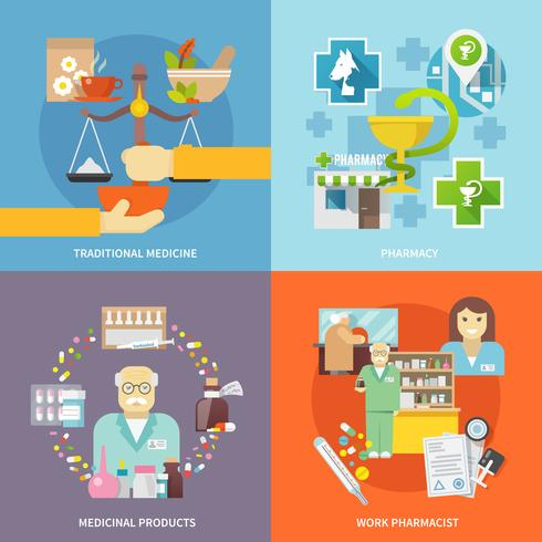 Pharmacien Icons Set