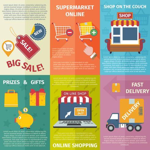 Shopping mini poster set