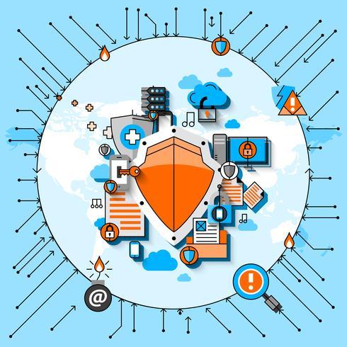 Concepto de línea de seguridad de datos