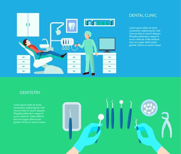 Dental Clinic Banner Set vector