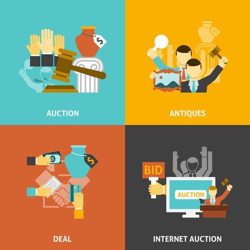 Auktionsavtal Ikoner Set