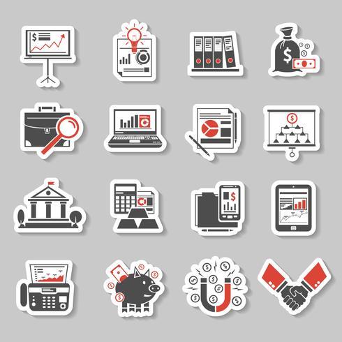 Finance Sticker Set vector