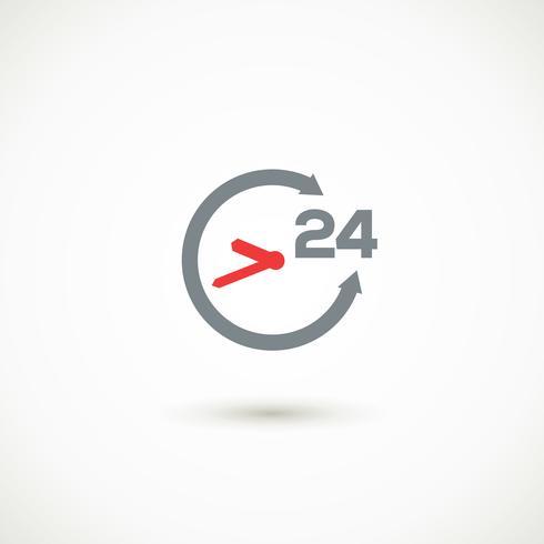 Serviço 24 horas sombra ícone
