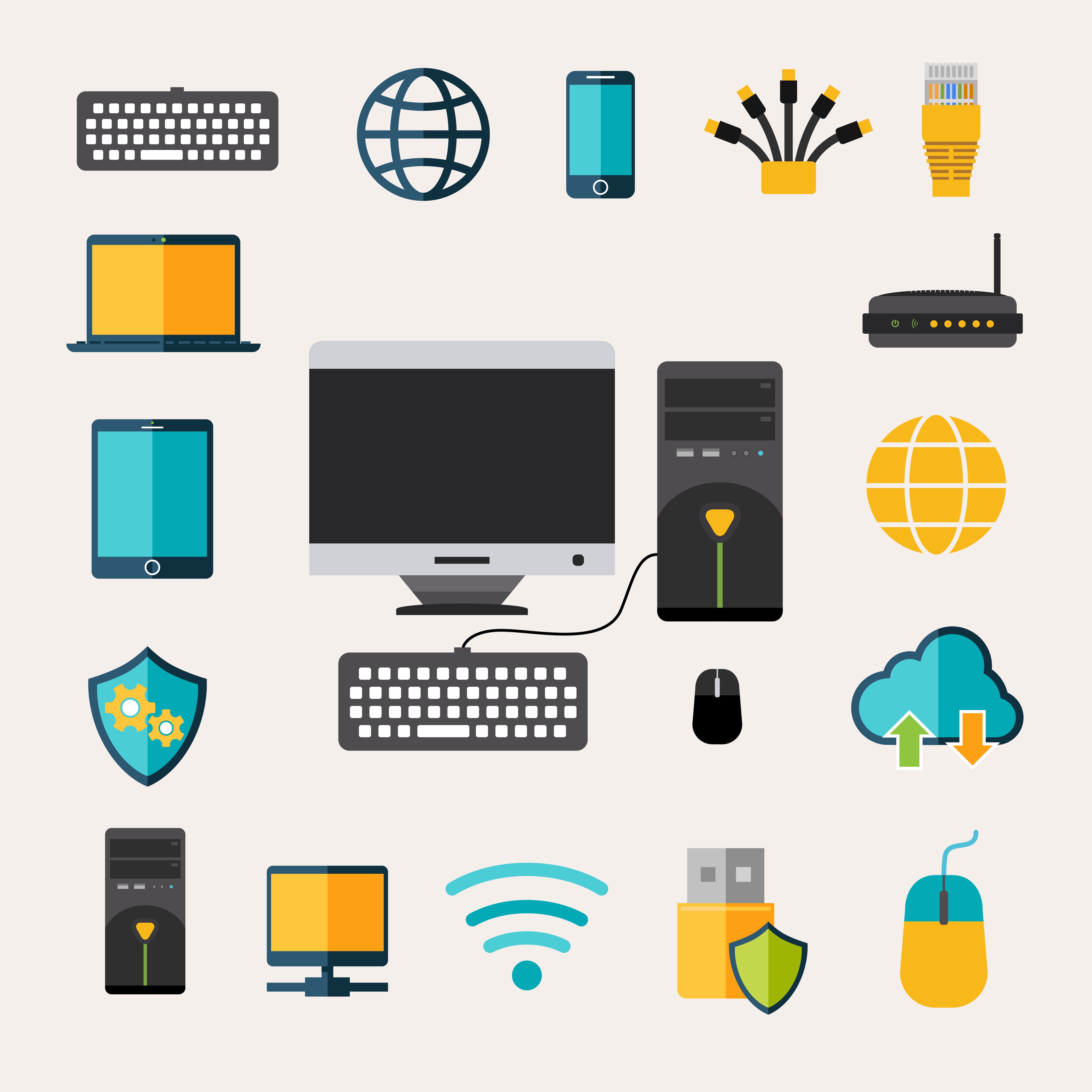 Network Gadget Set - Download Free Vectors, Clipart ...