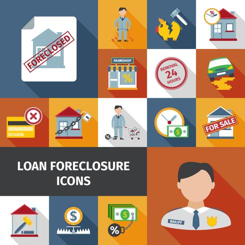 Icone di preclusione di prestito vettore
