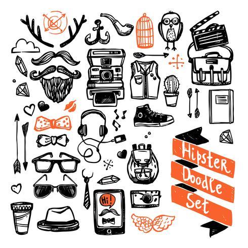 Sketch Hipster Set vector
